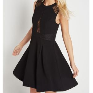 BCBGeneration Lace Trimmed Fit and Flare Dress